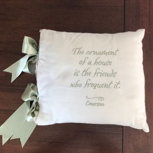 "Decorative throw pillow 15""x13"" Emerson quote"